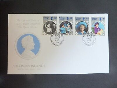 Solomon Islands. FDC. 1985. 'Queen Mother' Nice clean condition.