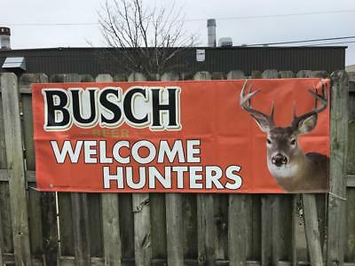 "NEW Busch Welcome Hunters 94"" x 34"" Outdoor Banner"