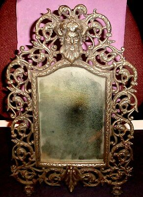 Ornate Victorian Green Man Wall or Table Mirror