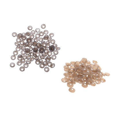 200x 9mm 11mm Plastic Safety Eyes Noses Washers for Teddy Bear Doll Making