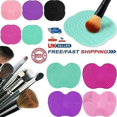 Silicone Makeup Brush Cleaning Cleaner Cosmetic Scrubber Board Mat Pad Hand Tool