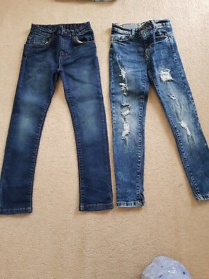 2 Pairs Boys Jeans Aged 8-9 Years