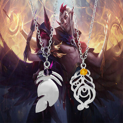 XAYAH and RAKAN Couples Necklace Metal Charms Pendant Choker Necklaces Collier