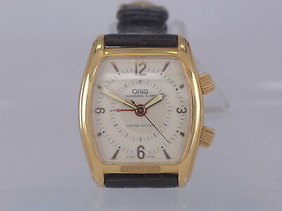 RaRe New-Old-Stock Oris 18K Rose Gold manual alarm watch limited 250pcs in box