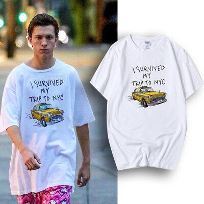f24f37181bc01 SPIDER-MAN T-SHIRTS TOM Holland Tees I Survived My Trip To NYC Cotton Funny  Tees