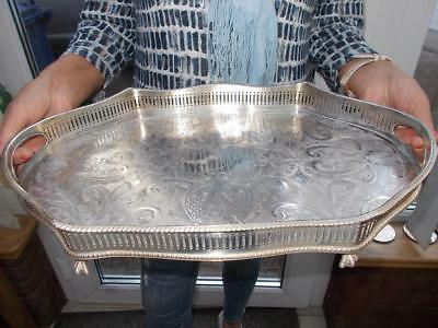 Nice Quality Serpentine Silver Plated Tray Rise & Fall Wave Effect Gallery