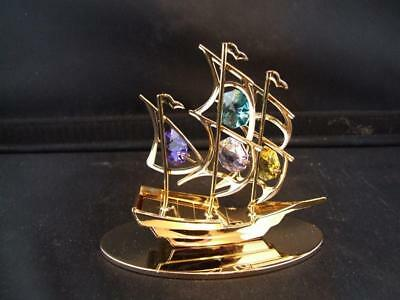 Crystocraft Free Standing Sailing Boat Ornament.