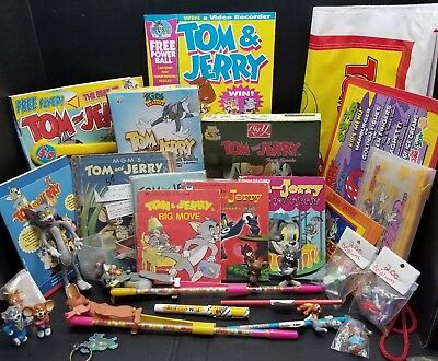 TOM AND JERRY Memorabilia Lot~ Toys, UK items , books and Figures MORE !30 items