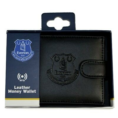 Everton Fc Debossed Crest Rfid Real Leather Football Club Sports Money Wallet
