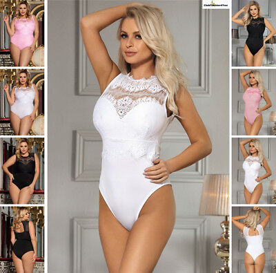 PLUS SIZE DESSOUS | Lace Sexy Teddy Babydoll Body | XS-4XL R80472-HH
