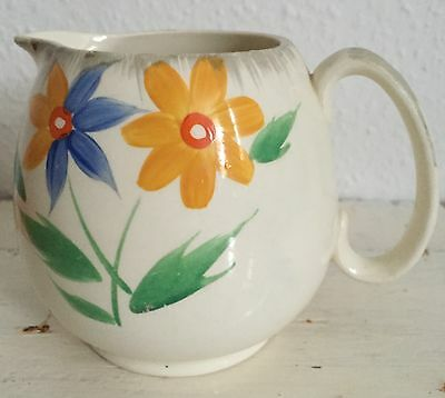 Lovely J & G Meakin jug with yellow and blue flower pattern
