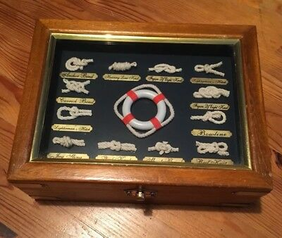 Unusual Collectable Nautical Wooden Chest Box Antiques Vintage rare Quirky