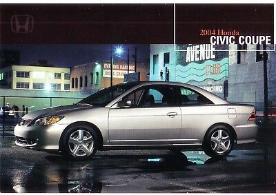 "VINTAGE HONDA 2004 CiVIC COUPE SHOW ROOM POSTER  24"" X 36"" NEW NEVER DISPLAYED"