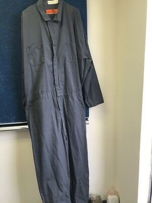 RED KAP Men's Long Sleeve Coverall Work Wear Gray 64-LN
