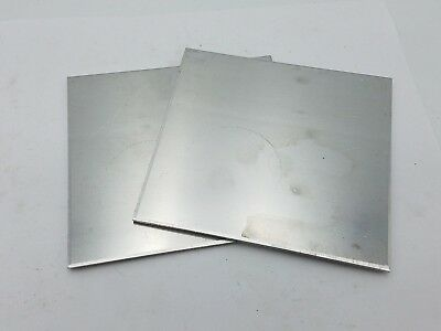 2 PC 4-7/16 x 4-3/16 x 1/8 Aluminum Sheet Plate Scrap Metal Stock Bar Flat Shim
