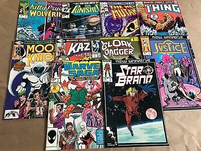 Lot Of 10 Marvel #1 Comic Books, The Punisher, New Mutants, The Thing, Etc. +