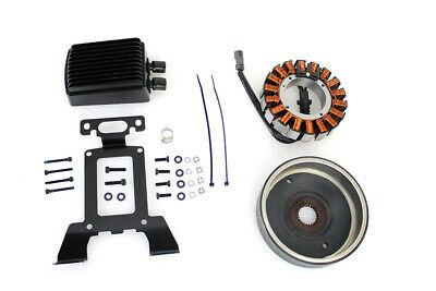 Alternator Charging System Kit 54 Amp Black fits Harley Davidson,V-Twin 32-0544