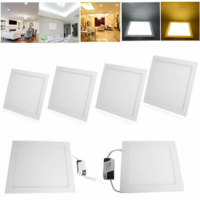 10X 15W LED Square Recessed Ceiling Flat Panel Light Lamp Downlight Fxiture Lamp