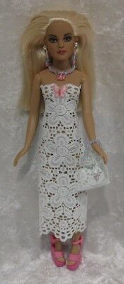 Made to fit TINY KITTY COLLIER  #47, Dress, Purse & Jewelry,  Handmade Clothes