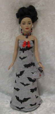 Made to fit TINY KITTY COLLIER  #64, Dress, Purse & Jewelry,  Handmade Clothes