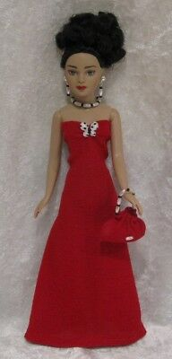 Made to fit TINY KITTY COLLIER  #10, Dress, Purse & Jewelry,   Handmade Clothes