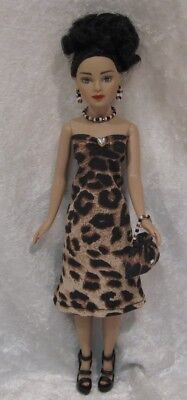 Made to fit TINY KITTY COLLIER  #36, Dress, Purse & Jewelry,  Handmade Clothes