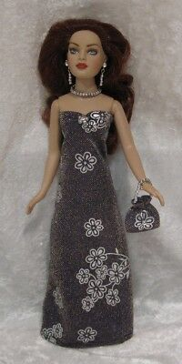 Made to fit TINY KITTY COLLIER  #13, Dress, Purse & Jewelry,   Handmade Clothes