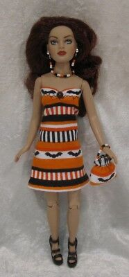 Made to fit TINY KITTY COLLIER  #65, Dress, Purse & Jewelry,  Handmade Clothes