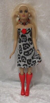 Made to fit TINY KITTY COLLIER  #54, Dress, Purse & Jewelry,  Handmade Clothes