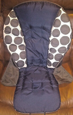 NEW Graco Contempo Highchair Replacement Seat Pad Cover Cushion Motif Navy