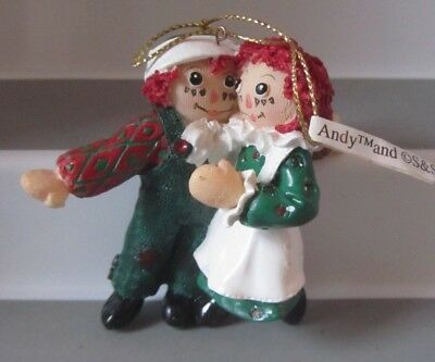 1998 RAGGEDY ANN & ANDY figure  CHRISTMAS ORNAMENT