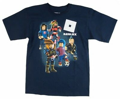 Boys Kids Roblox Characters S/S Tee Top T-Shirt Navy S 8, M 10-12, L 14-16 NWT
