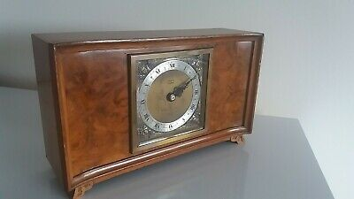 "Art Deco Elliott Of London Quality Mantle Clock. Retailed By ""Rowell Of Oxford"""
