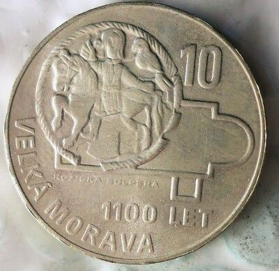 1966 CZECHOSLOVAKIA 10 KORUN - AU/UNC - Uncommon Silver Crown Coin - Lot #913