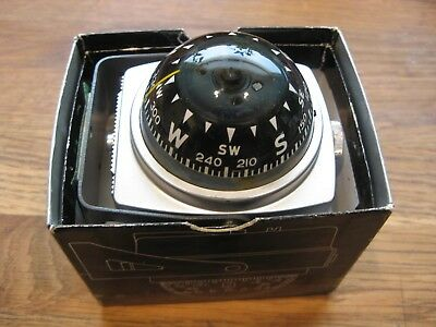 Vintage Airguide Auto Compass Self-Illuminated Model 79C In Box Chevy Bomb Ford