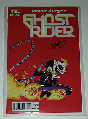 Ghost Rider #1 Baby Variant Cover Signed By Skottie Young Marvel