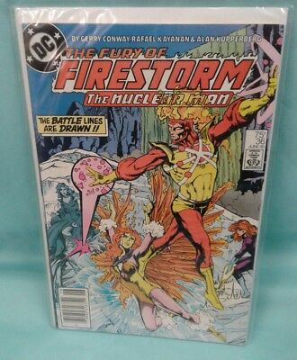 DC The Fury of Firestorm # 36 the nuclear man jun/85 THE BATTLE LINES ARE DRAWN