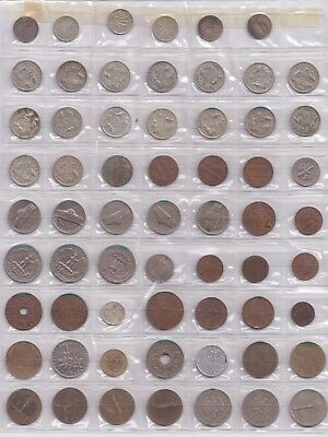 16 AUSTRALIAN SIXPENCE ALL DIFFERENT DATES 6x 3 PENCE USA AND WORLD COINS