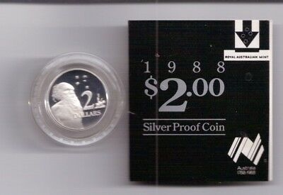 1988 $2 SILVER PROOF COIN (First Year of Issue) - Royal Australia Mint