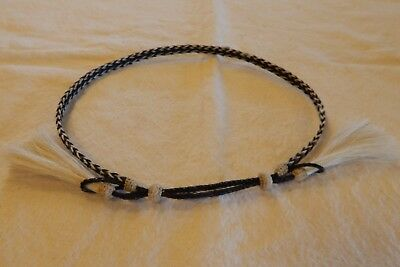 """Preowned 3/8"""" Wide Braided Adjustable Horse Hair Hat Band"""