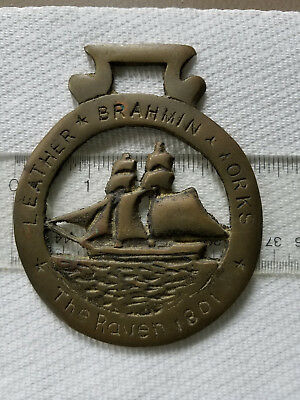 Harness Brass Medallion The Raven 1801  Brahmin  Leather Works