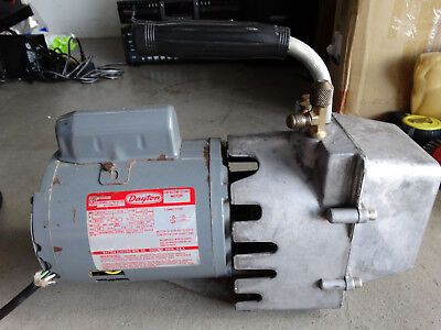 Dayton Refrigeration Vacuum Pump Model 4Z577 Runs Great