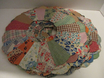 17 Antique Vintage Dresden Plate Quilt Blocks 13 inches handsewn some stains