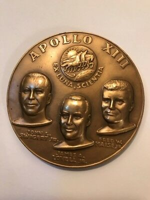 Medallic Art Co NY Apollo 13 Space Mission Bronze Medal