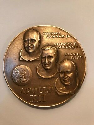 Medallic Art Co NY Apollo 12 Space Mission Bronze Medal