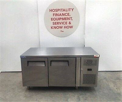 FED LDWB150F Two Door Stainless Steel Workbench Freezer (SN-160712038)