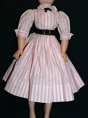 Vintage 1950s Madame Alexander Tagged CISSY gown Pink striped #2014 dress