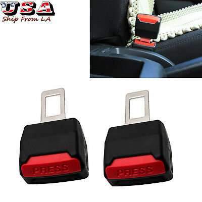 2x Car Safety Seat Belt Buckle Extension Extender Clip Alarm Stopper Universal