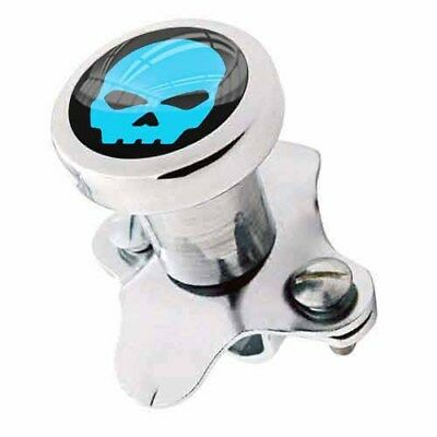 Polished Steering Wheel Spinner Suicide Brody Knob Rod Car Truck - Blue Skull G