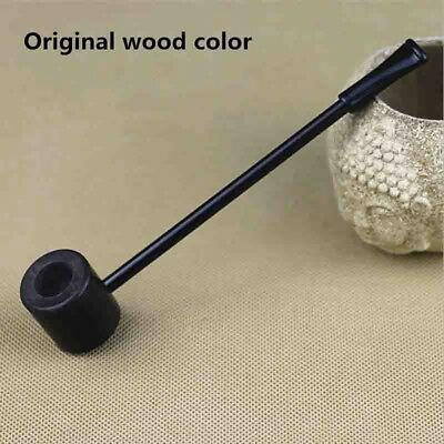 Durable Ebony Wood Enchase Smoking Pipe Herb Tobacco Cigarettes Cigar Pipe DA